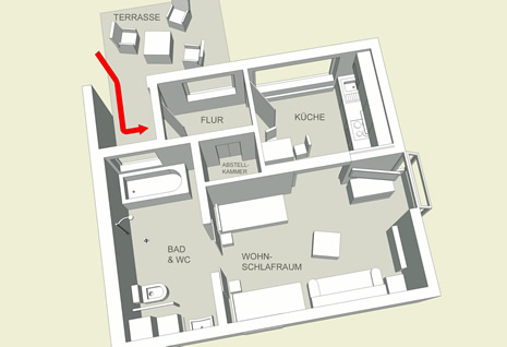 Foto: Apartment-Plan